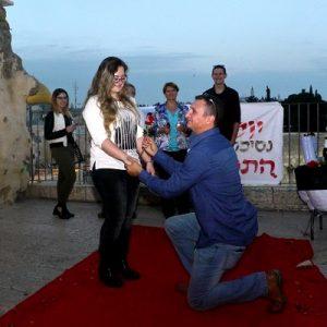 הצעת נישואין מרגשת בכותל המערבי