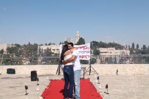 הצעת נישואין מרגשת בכותל